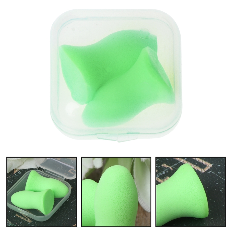 1 Pair Soft Foam Ear Plugs Tapered Travel Sleep Noise Prevention Earplugs Dropship