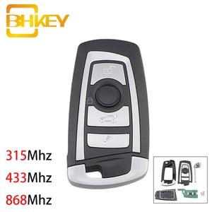 Image 1 - BHKEY 4 כפתורים Flip Floding חכם רכב מפתח עבור BMW 1 3 5 6 סדרת X5 רכב מרחוק מפתח Fob 315mhz 433mhz 868mhz CAS2 מערכת