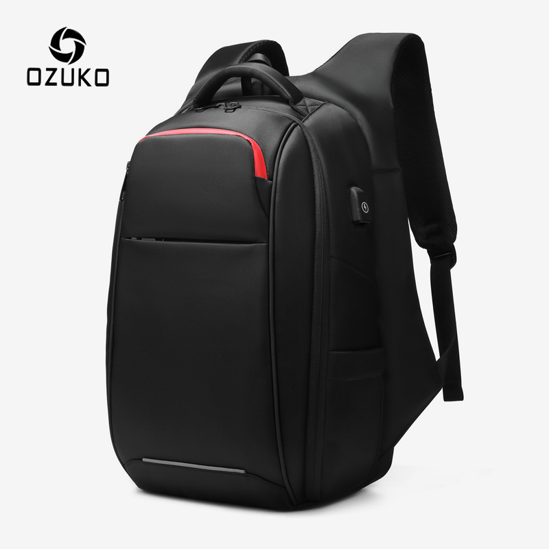 OZUKO Multifunction 15.6 Inch Laptop Backpack Men Anti Theft USB Charge Waterproof Backpacks For Male Business Travel Rucksack