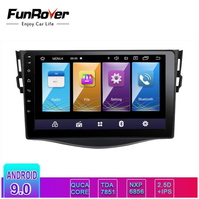 Funrover 2.5D + IPS android 9.0 auto dvd gps navigation-player Für Toyota RAV4 Rav 4 2007-2011 auto radio multimedia stereo 4 core