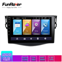 Funrover 2.5D+IPS android 9.0 car dvd gps navigation player For Toyota RAV4 Rav 4 2007 2011 car radio Multimedia stereo 4 core