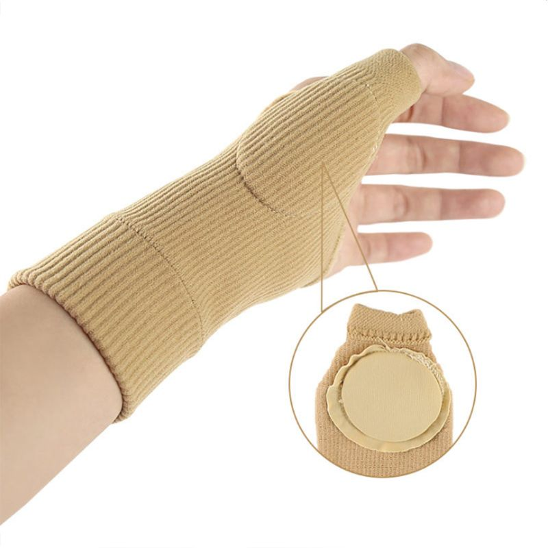 Sports Thumb Wrist Brace Silicone Pad Compression Support Sleeve For Pain Relief LX9E