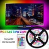 DuuToo LED RGBW 라이트 스트립 USB 0.5 1 2 3 4 5M 방수 RGB 원격 무선 디 밍이 가능한 유연한 Led 라이트 테이프 리본 피타