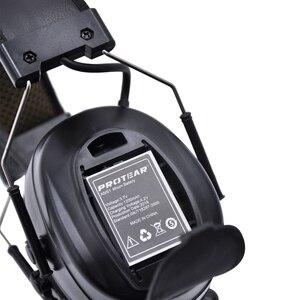 Image 4 - Lithium batterie Bluetooth Elektronische Schießen gehörschutz Gehörschutz FM/AM Radio Ohr Verteidiger Taktische Schutz