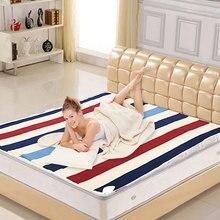 Автоматическое электрическое одеяло 220 В, термостат с подогревом, двухслойный теплый матрас с подогревом, ковер с электрическим подогревом