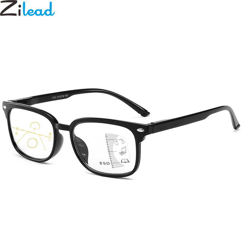 Zilead Multifocal Progressive Reading Glasses Anti Blue Light Presbyopia Eyeglasses For Women&Men Hyperopia Eyewear+1.0to+3.5