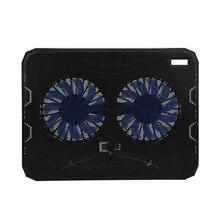 Ultra-thin large size USB Laptop Cooler Base 2 Mute Fan Notbook