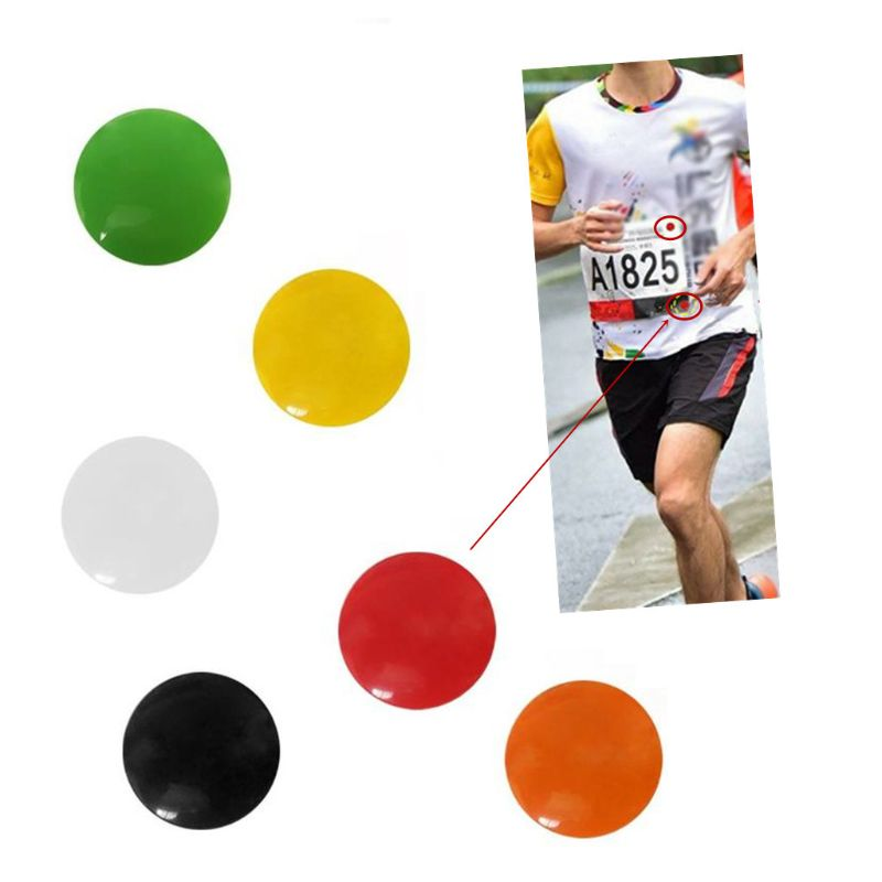 4pcs Marathon Race Number Magnetic Race Bib Holders Running Fix Clips Number Belt Cloth Buckle Triathlon Run Cycling Accessories