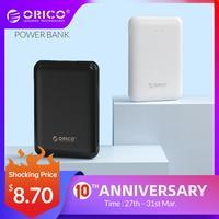 ORICO 5000mAh Power Bank podwójny USB przenośny Slim cienki Poverbank przenośna bateria zewnętrzna dla iphone Xiaomi telefon komórkowy w Powerbank od Telefony komórkowe i telekomunikacja na