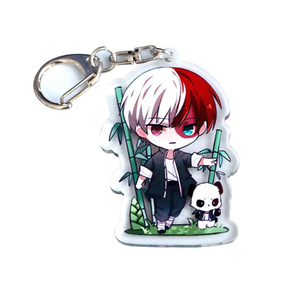 Kawaii Anime Figuur Sleutelhanger Boku Geen Hero Academia Sleutelhangers Leuke Unisex Sleutelhanger