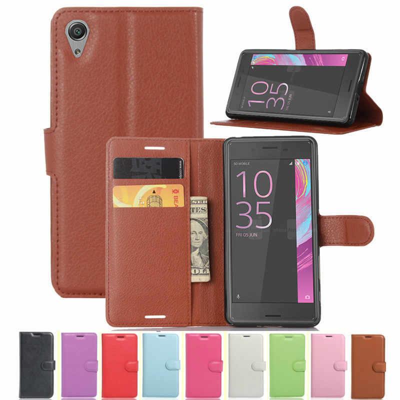 Чехол кошелек для sony Xperia X Dual F5121 F5122 откидной кожаный чехол ТПУ телефона подставка