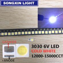 100 шт. светодиодный Подсветка высокое Мощность светодиодный 1,8 Вт 3030 3V 6V холодный белый 150-187LM PT30W45 V1 ТВ Применение 3030 smd EVERLIGHT