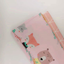 Pink Series Childish Style Animal Printed Cotton Twill Fabric Skin-Friendly Pure Material For DIY Sewing Patchwork