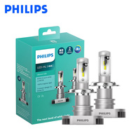 Philips LED H4 H7 H8 H11 H16 9003 Ultinon LED 6000K Cool Blue White Light +160% Brighter Car Headlight Compact Design, Pair