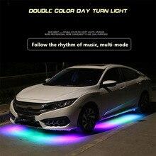 Мобильное приложение потоковое шасси свет автомобиля светодиодный водонепроницаемый автомобильный нижний окружающий свет динамический режим ремонт сайт декоративный свет для bmw