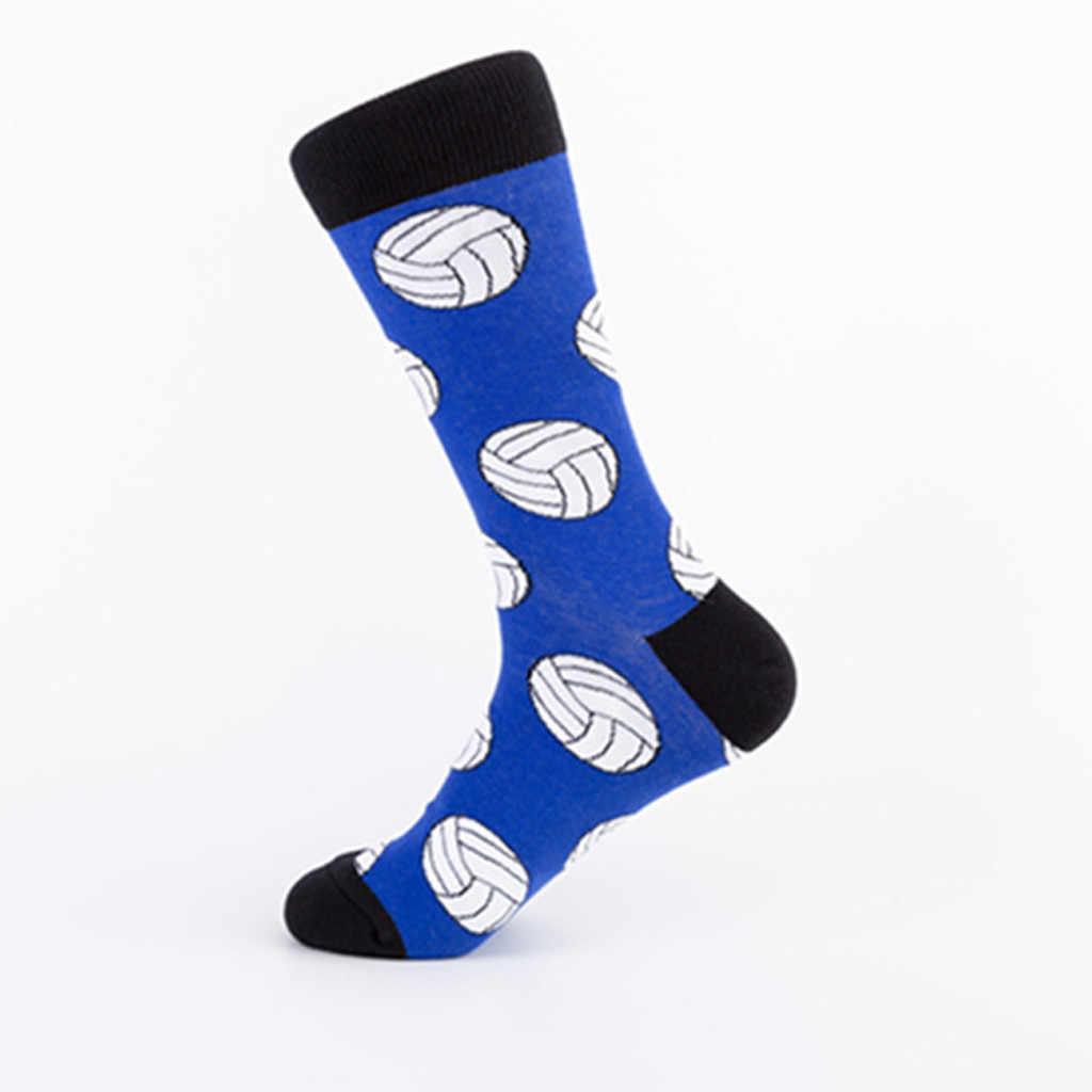 แฟชั่นผู้ชายพิมพ์ถุงเท้าความปลอดภัยทนทานผ้าฝ้ายสั้น Street สเก็ตบอร์ดถุงเท้านุ่มสบายตลกถุงเท้า happy ถุงเท้าของขวัญ