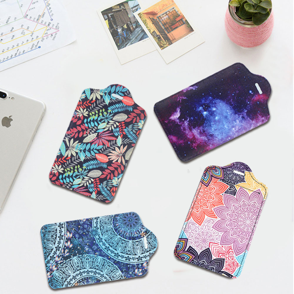 Unique Leather Suitcase Luggage Tag Label Bag Pendant Handbag Travel Accessories Name ID Address Tags
