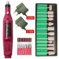 20000 ОБ/мин, Электрический Фрезер для ногтей, сверлильный станок набор для маникюра и педикюра Фрезер для ногтей cо шлифовальными гель для сня...