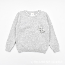 Новая стильная одежда для малышей на весну, осень и зиму пуловер с вырезом лодочкой свитер с бантом детский свитер для девочек детская одежда средней длины