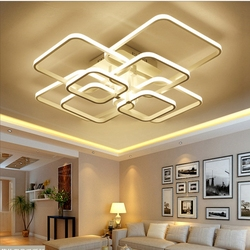 Indoor Lighting Modern Ceiling Lights Flush Mount Ceiling Light with Remote Control Lighting for Living Room Ceiling Fixtures