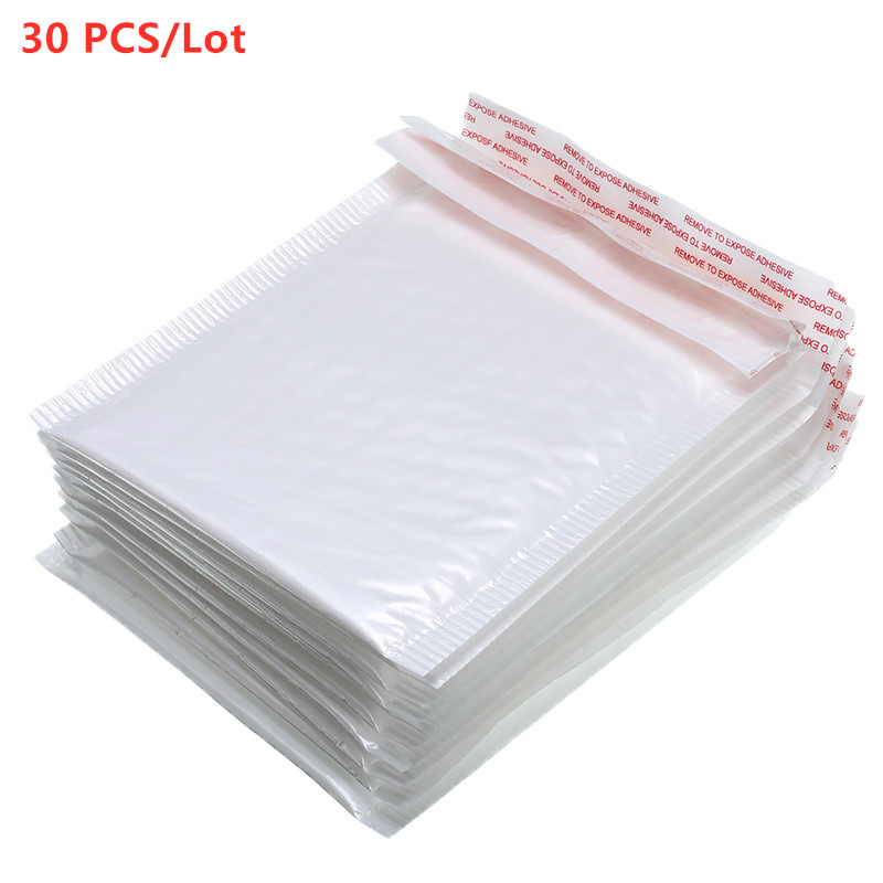 Hot Sale30 PCS/Lot White Foam Envelope Bag Different Specifications Mailers Padded Shipping Envelope With Bubble Mailing Bag