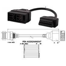 Adaptador de Cable OBDII OBD2 de 22 pines a 16 Pines, conector OBD para Cable de 17 pines ODB2