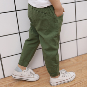 Image 2 - Famli 2018 hot sale Spring Summer Autumn children Full Lengths for baby boys trousers kids child casual Solid  Pencil pants