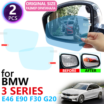 for BMW 3 Series 1998~2020 BMW E46 E90 F30 G20 318i 320i 325i 328i 330i Full Cover Rearview Mirror Anti Fog Film Accessories image