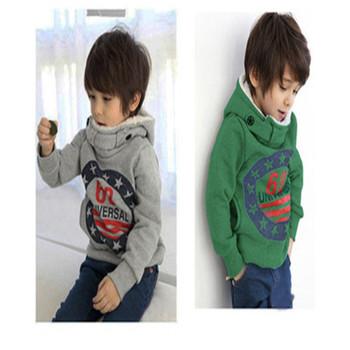 Bluzy dziecięce dla chłopców jesienno-zimowa dla dzieci bawełna ciepły gruby sweter z kapturem z długim rękawem płaszczyk dziecięcy dla chłopca odzież sportowa dla chłopców tanie i dobre opinie ALIJUTOU Na co dzień COTTON Pasuje prawda na wymiar weź swój normalny rozmiar List REGULAR Chłopcy Pełna