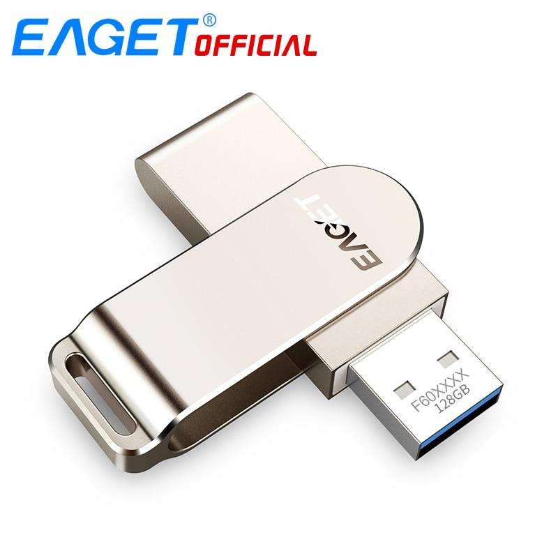 EAGET F60 128G USB Flash Drive 3.0 High Speed Pen Mini Memory Stick