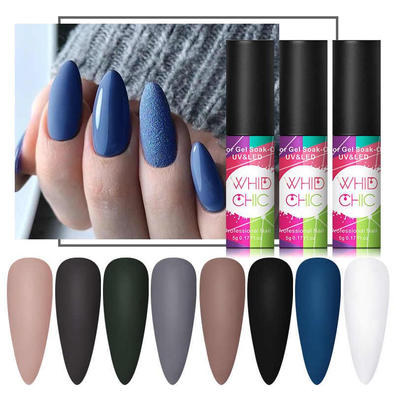 WHID CHIC 5ml mate esmalte de uñas de Gel UV barniz de Gel de Color de larga duración que mate la capa superior de remojo uñas Gel LED UV barniz