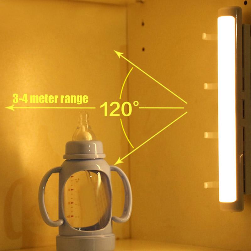 Wireless LED Motion Sensor Night Lights for Under Cabinet Closet Kitchen Cupboard Shelf Lighting QJ888