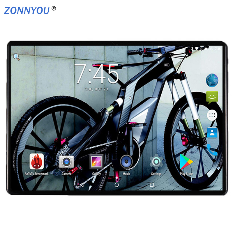 10.1 Inch 2.5D Screen Tablet PC 3G Phone Call 4GB+64GB Android 7.0 Octa Core 1.5GHz Dual SIM Support GPS WiFi Bluetooth PC