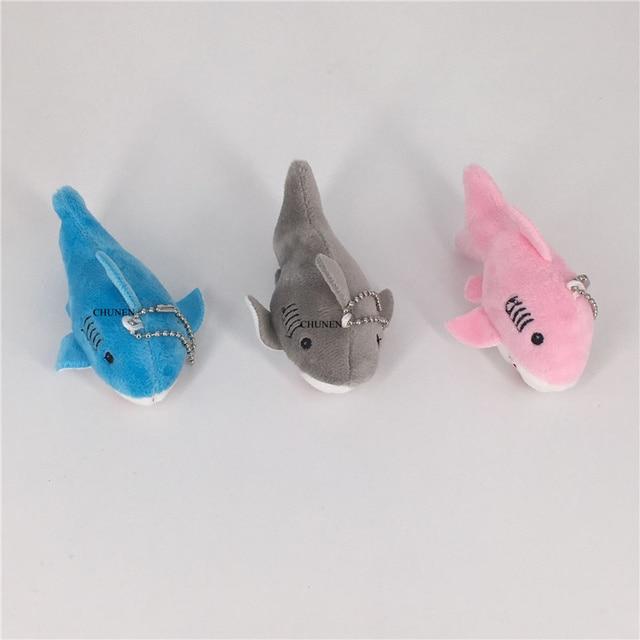 3 kolory, 10CM ok. Zwierzę oceaniczne shark pluszowa zabawka, dziecięca ręka wypchana zabawka, lalka pęku kluczy