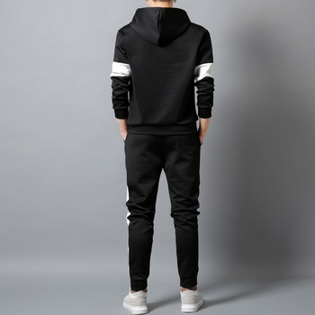 White Black Men Hoodies Set Fashion 2020  5