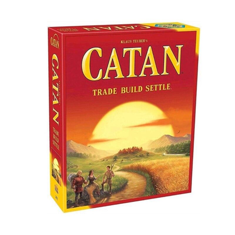 Catan jogo de tabuleiro comércio construir settle/marítimos/5-6 player extensão pacote completo inglês de alta qualidade casa festa mesa jogo