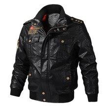 NEGIZBER chaqueta de cuero para hombre, chaqueta informal de moda, Joker, holgada, sencilla, monocromática, con cuello levantado, chaqueta de cuero
