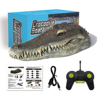 RC Boat Simulation Crocodile Head Remote Control Ship Boats Children Gift Kids Funny Toys Electric Spoof Toy  V005