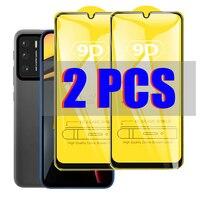 2 pezzi di vetro temperato curvo 9D per Xiaomi Mi Poco M3 X3 NFC F1 F2 Redmi Note 9s 8 7 8T 6 5 Plus 9 Pro protezione dello schermo a copertura totale