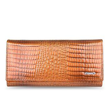 Γυναικείο γυαλιστερό κροκό πορτοφόλι