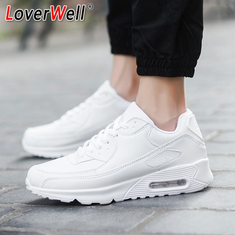 Sport Shoes For Men Women Flats Running Shoes Air Cushion Outdoor Couples Sneakers Woman Autumn White Red Walking Mens Shoes 44