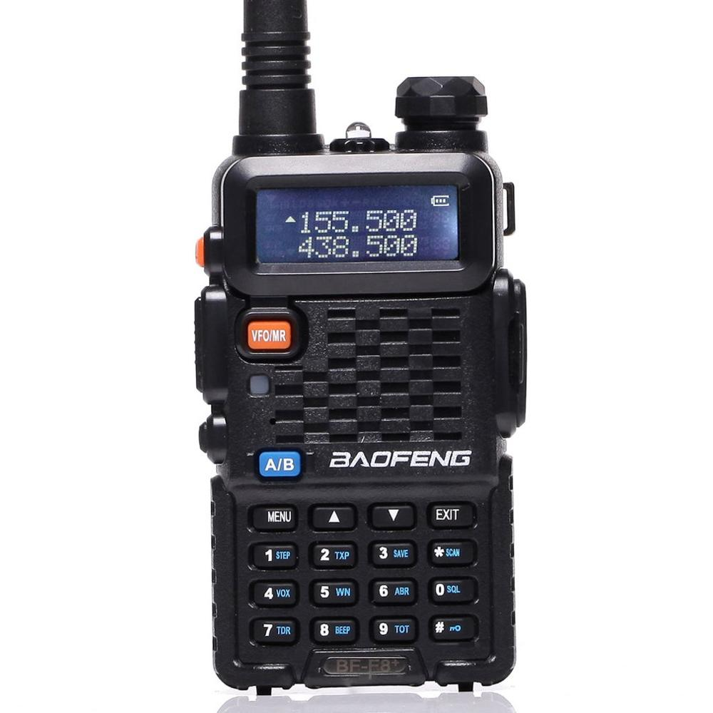 Baofeng BF-F8 + Upgrade New Walkie Talkie Police Two Way Radio 5W UHF VHF Dual Band outdoor Long Range Ham Transceiver