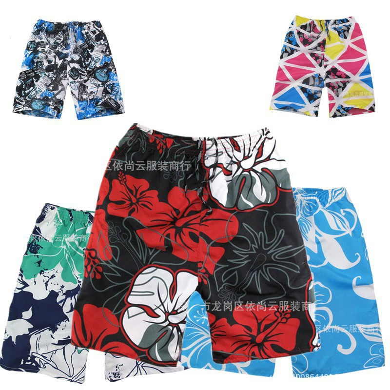 Beach Shorts Men's Summer Loose Swimming Trunks Quick-Dry Shorts Large Size Seaside Surfing Casual Shorts Stall Market