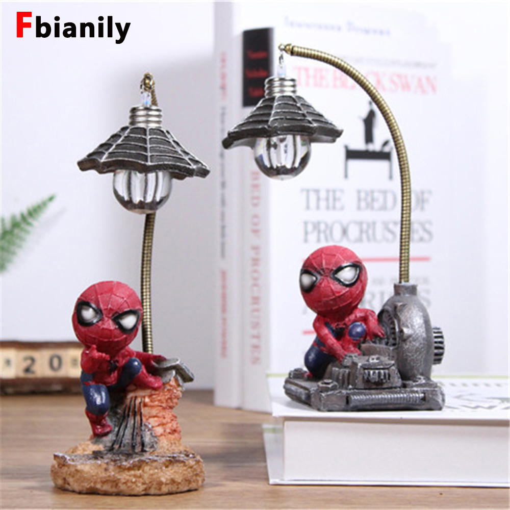 New Cartoon  Man Night Lamp Resin Children Bedroom LED Night Light For Boy Kids Xmas Creative Gift