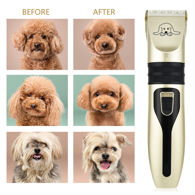Electric Pet Dog Hair Trimmer Animal Hair Grooming Clippers Cat Cutter Machine Shaver Electric Haircut Scissor Hair Styling Tool