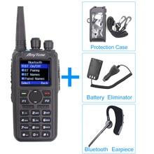 Anytone AT D878UV mais rádio vhf 136 174mhz uhf 400 470mhz gps aprs bluetooth walkie talkie ham estação de rádio com um cabo