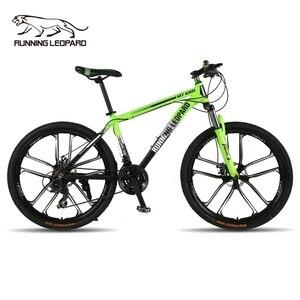 Corrida leopardo mountain bike, bicicleta de corrida de 26 polegadas e liga de alumínio para bicicleta de montanha, mecânico, disco duplo