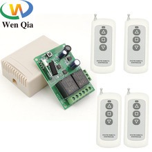 цена на rf Remote Control circuit garage door controller 433MHz Wireless Safety Switch DC 12V 24V 2CH rf Relay Receiver and Transmitter