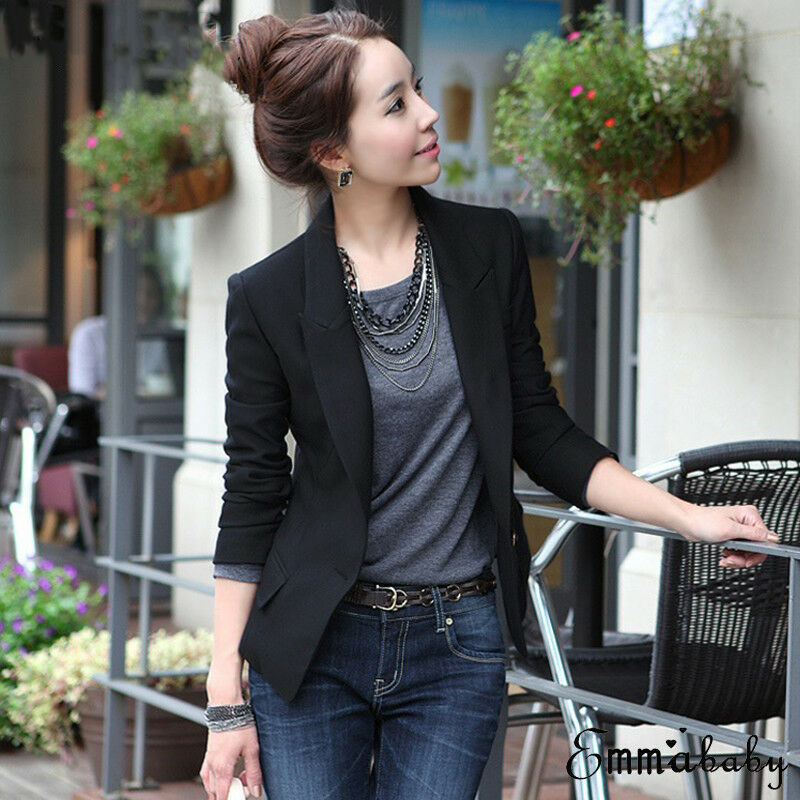 1pc Robe Femme Hot Selling Women Slim OL Suit Casual Blazer Jacket Coat Tops Outwear Long Sleeve Plus Sized Formal Single Button