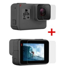 Tempered Film For Gopro Hero 7/6/5 Accessories Protector Scratch-resistant Protective Film For Go Pro Hero 7 6 5 Action Camera